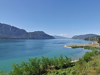 Lac du Bourget lake in France