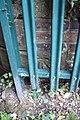 Benchmark behind fence on abutment of bridge 236A - geograph.org.uk - 2594049.jpg