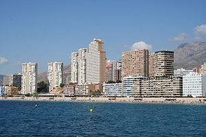 Poniente Beach's sight in Benidorm, Alicante (...