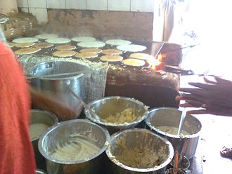 Benne dose - A view of making benne dosa at Davangere.
