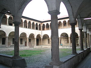 University of Bergamo - A courtyard of the university