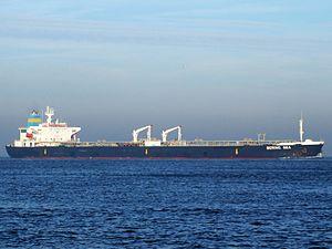 Bering Sea IMO 9085429 p1 approaching Port of Rotterdam, Holland 21-Dec-2007.jpg