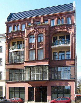 Continental-Kunstfilm - Image: Berlin, Mitte, Chausseestrasse 123, Wohn und Geschaeftshaus