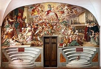 Bernardino Poccetti - Image: Bernardino poccetti, strage degli innocenti e scene di vita dello spedale, 1610, 01