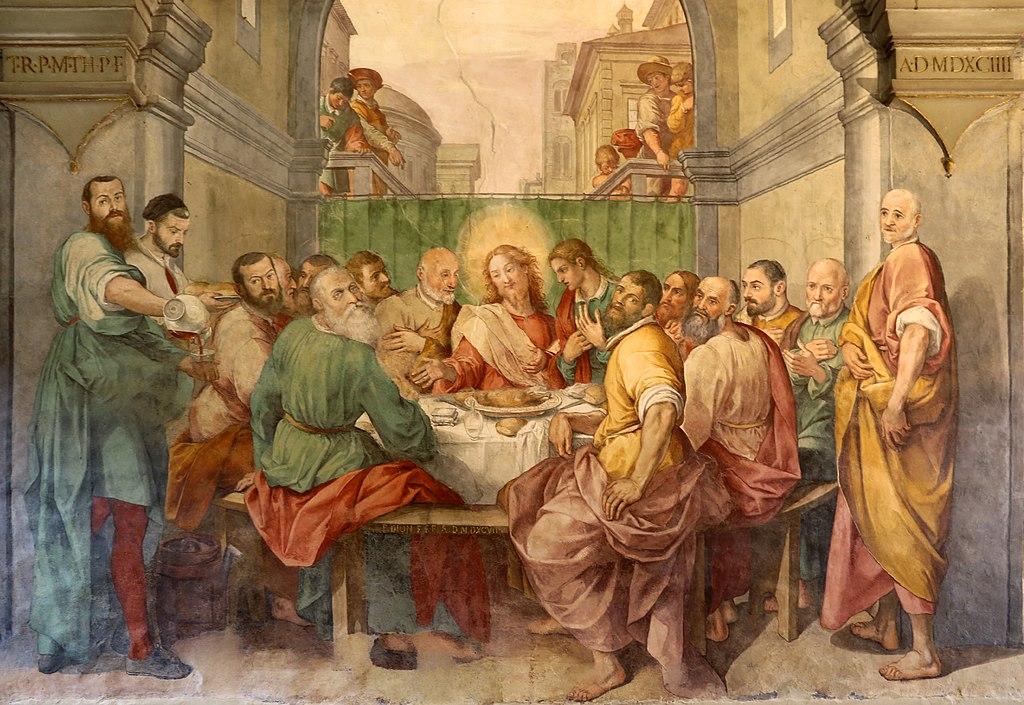 Bernardino poccetti e bottega, tre cene, 1597, 04 ultima cena 4