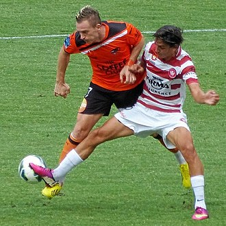 Besart Berisha - Berisha playing against Jérome Polenz in 2013.