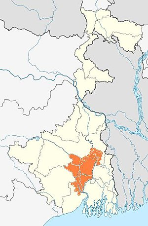 Bhurshut - The maximum extent of Bhurshut kingdom as reflected in a map of present-day West Bengal.