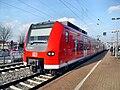 Bibliser Bahnhof- auf Bahnsteig zu Gleis 5- Richtung Frankfurt am Main (RB 425 268-0) 7.3.2009.JPG