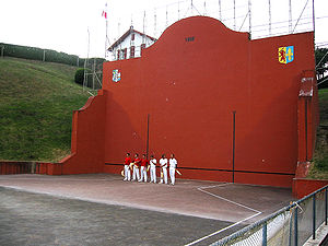 French Basque Country - Basque pelota courts are found in most villages