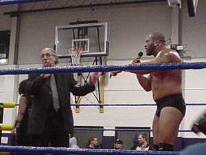 Bill Apter - Apter (left) with Rodney Mack in 2005.