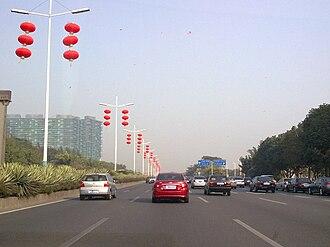 Binhai Boulevard - Image: Bin Hai Blvd Red