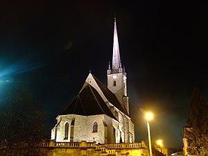 Reformed Church in Romania - Image: Bis ref Dej night