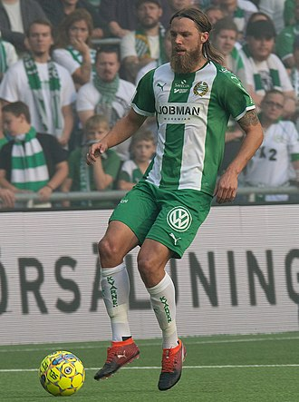 Bjørn Paulsen - Paulsen playing for Hammarby IF in 2018