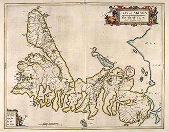 Skye - Skye as shown on Blaeu's 1654 Atlas of Scotland