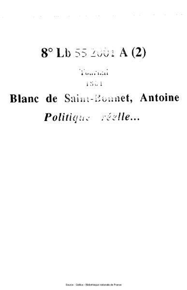 File:Blanc de Saint-Bonnet - Politique réelle.djvu