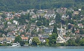 Blick vom Zürichsee auf Erlenbach (2009)