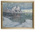 Boats between the Mountains. Study from Lofoten (Anna Boberg) - Nationalmuseum - 20478.tif