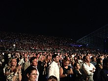 f63760300d The crowd at Bocelli s Concert in du Arena