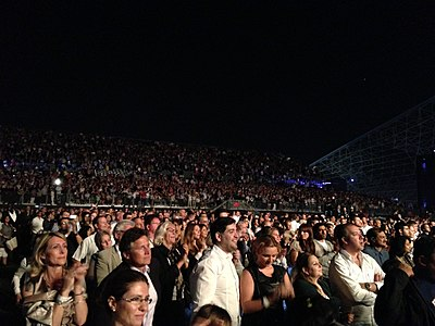 The crowd at Bocelli's Concert in du Arena, Abu Dhabi, UAE in 2013