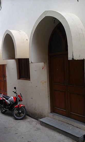 Manasa, Madhya Pradesh - A street view of the Bohra Mosque at Manasa, MP