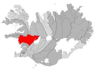 Reykholt, Western Iceland - Image: Borgarbyggd map