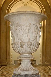Roman era ornamental garden vase