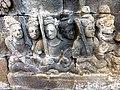 Borobudur - Divyavadana - 076 N, King Rudrayana abdicates in favour of his son Sikhandi (detail 1) (11706878006).jpg