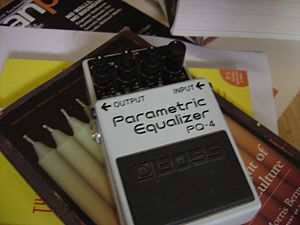 Equalization (audio) - Equalizers are also made in compact pedal-style effect units for use by electric guitarists. This pedal is a parametric equalizer.