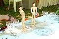 Boulespieler-Figuren auf einem selbstdekoriertem Tisch während der Pfingsttafel Hannover 2012.jpg