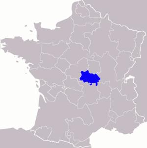 Bourbonnais - Image: Bourbonnais localisation