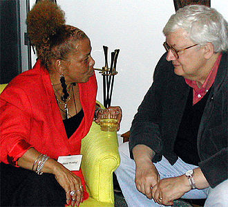 Ebert test - Ebert (right) at the Conference on World Affairs in September 2002, shortly after his cancer diagnosis
