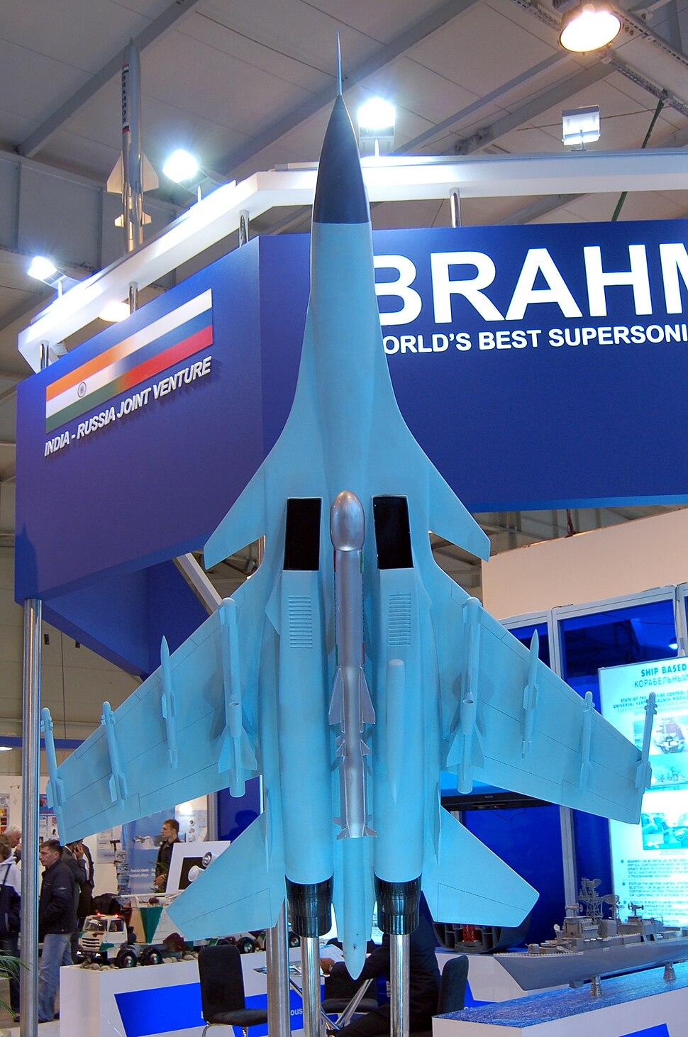 Brahmos under Su30MKI maquette MAKS2009