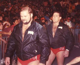 The Four Horsemen (professional wrestling) - Arn Anderson (left) and Tully Blanchard, two founding members of the Horsemen