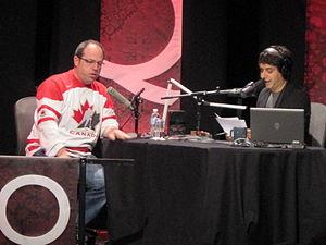 Jian Ghomeshi - Image: Brent Butt interviewed on Q by Jian Ghomeshi February 18, 2010
