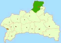 Location of Baranaviču rajons