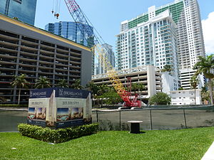 Brickell House - Construction site in 2011