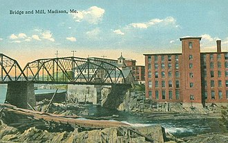 Madison, Maine - Image: Bridge and Mill, Madison, ME