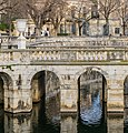 Bridge over the canal in Jardins de la Fontaine in Nimes 04.jpg