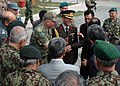 Brig. Gen. Mustafa Colak and Col. Can Bolat discuss future goals (4699321087).jpg