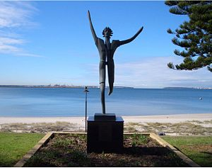Brighton-Le-Sands, New South Wales - Olympic statue, The Grand Parade