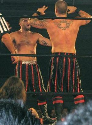 The Briscoe Brothers - Mark (left) and Jay (right) at a Ring of Honor show in 2006.