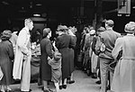 Britain Queues For Food- Rationing and Food Shortages in Wartime, London, England, UK, 1945 D25032.jpg
