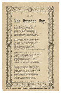 The Butchers Boy (folk song) traditional song