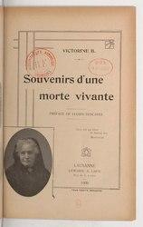 Victorine Brocher: Souvenirs d'une morte vivante