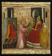 Saint Lawrence Arraigned Before the Prefect Valerianus
