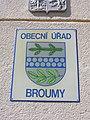 Broumy, znak obce na radnici.jpg