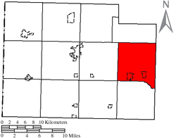 Location of Brown Township in Paulding County