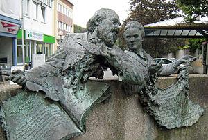 Max Bruch - Memorial for Max Bruch and Maria Zanders in the pedestrian zone of Bergisch Gladbach city centre