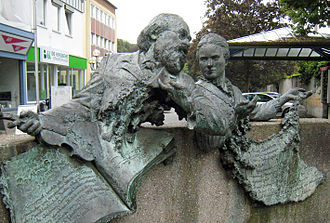 Max Bruch - Memorial for Max Bruch and Maria Zanders in the pedestrian zone of Bergisch Gladbach city centre