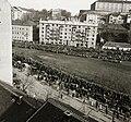 Budapest I., Vérmező, Attila út házai. Horthy Miklós 15 éves kormányzói jubileuma alkalmából tartott ünnepség a Vérmezőn. Fortepan 83730.jpg